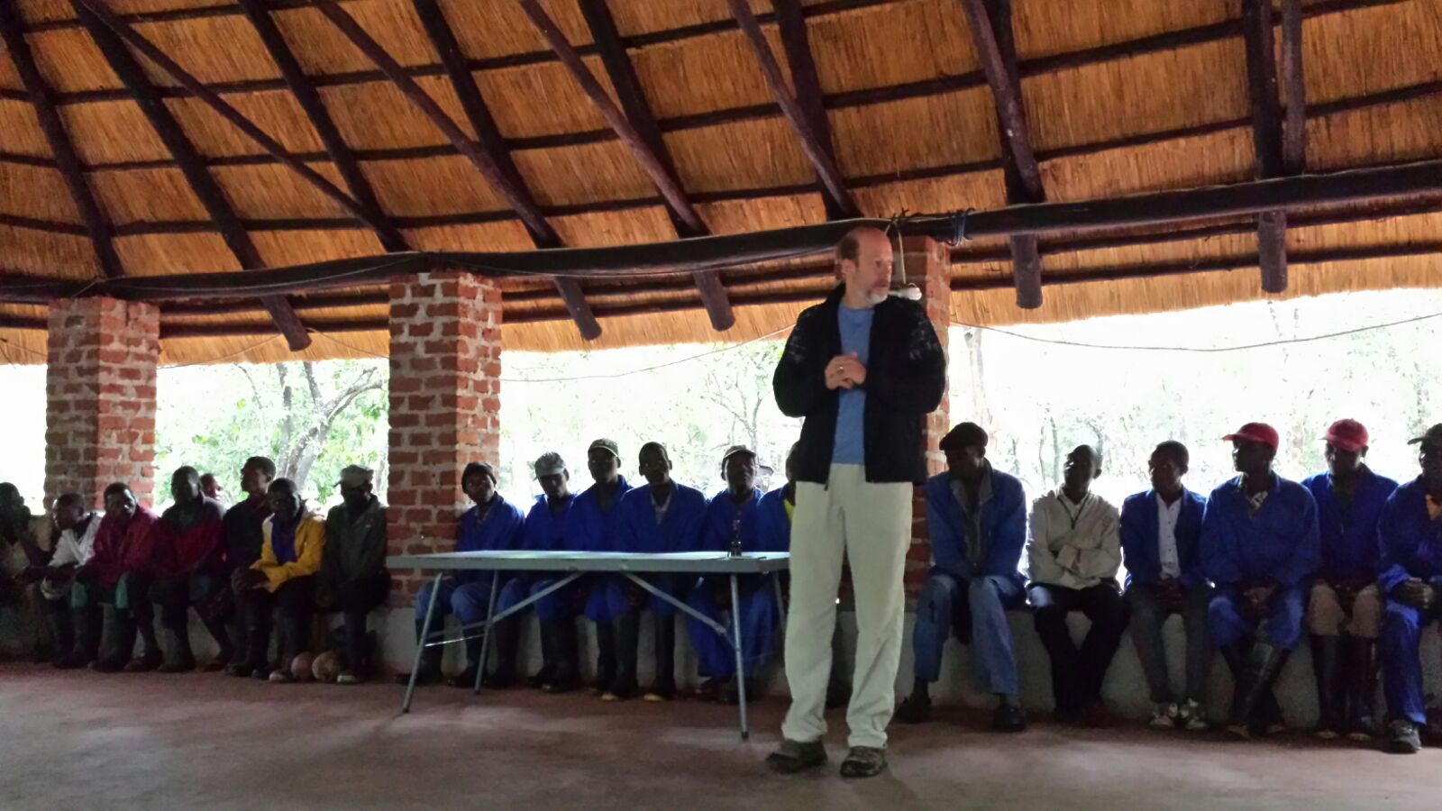 Jeff sharing in Mozambique