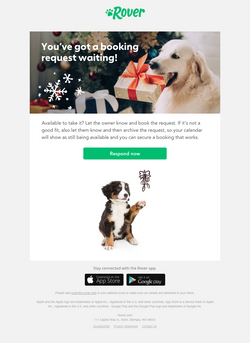 Sitter holiday email