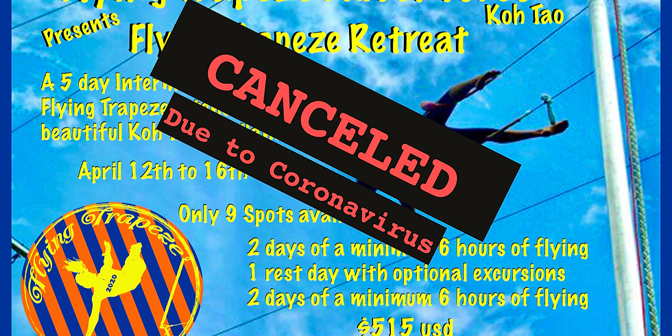 5 Day Flying Trapeze Intensive (has been canceled due to the coronavirus)