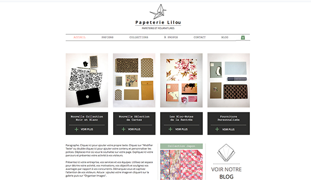 Arts et travail manuel website templates – Papeterie