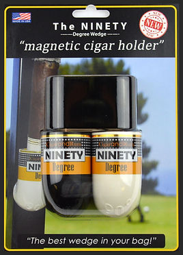Magnetic cigar holder for golf
