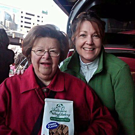 Me, Sen. Barbara Mikulski, and Baltimore Dog Bakery