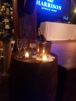 Champagne table/candle