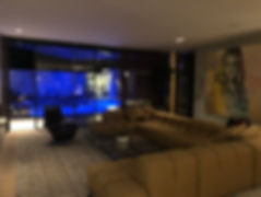 Crestron Living Room and LED Lit Pool