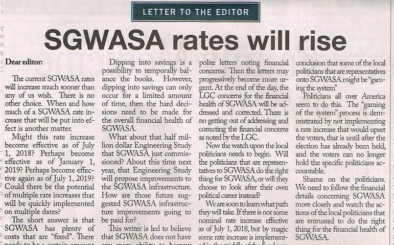 SGWASA rates will rise.jpg