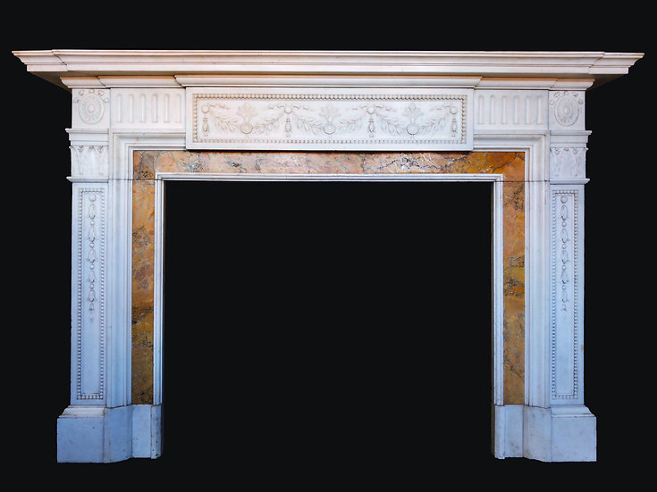 A Stunning Early Victorian Marble Surround