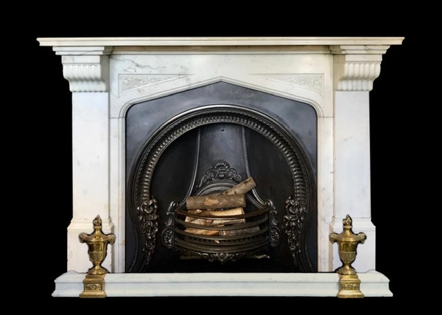 Early Victorian Statuary White Marble Surround