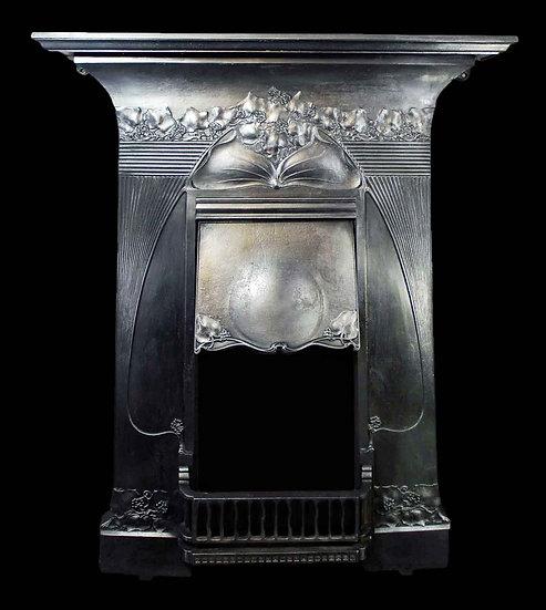 Original Cast Iron Art Nouveau Combination