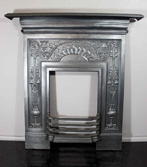 Late Victorian Art Nouveau Bedroom Fireplace