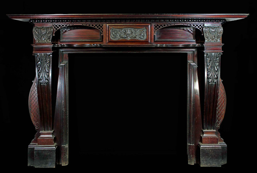 A Very Large Grand Mahogany Victorian Surround