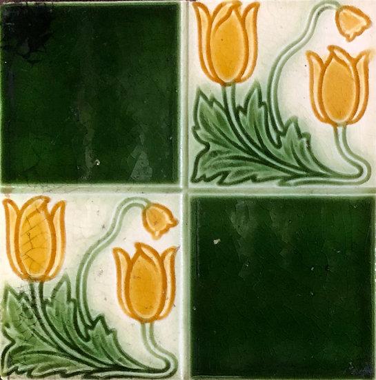 Art Nouveau Chequered Tile