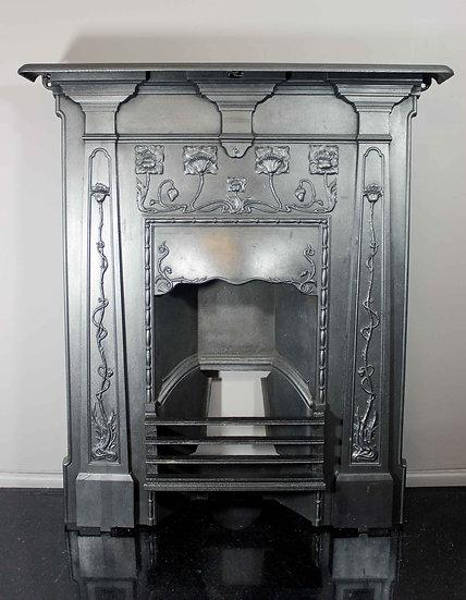 An unusual Art Nouveau Bedroom Fireplace