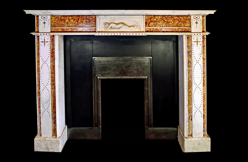 An Extremely Fine Georgian Marble Chimney Piece