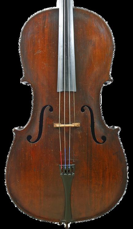Antique Saxon Cello Early 19th Century