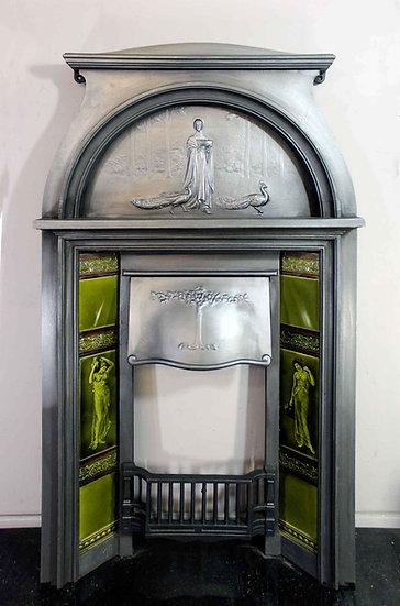 Original Art Nouveau Cast Iron Combination