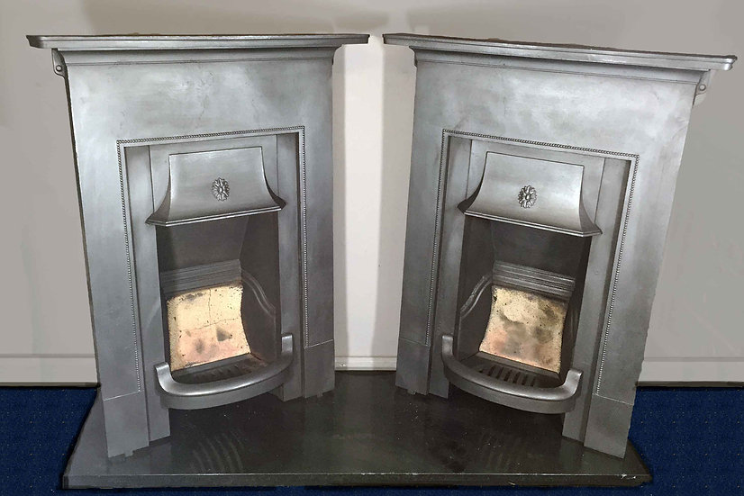 Pair of 1920s Bedroom Fireplaces