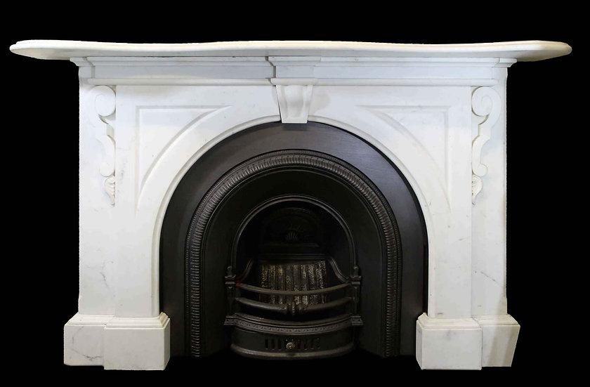 Elegant Victorian Staruary White Arched Surround