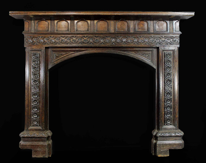 An Original English Oak Surround