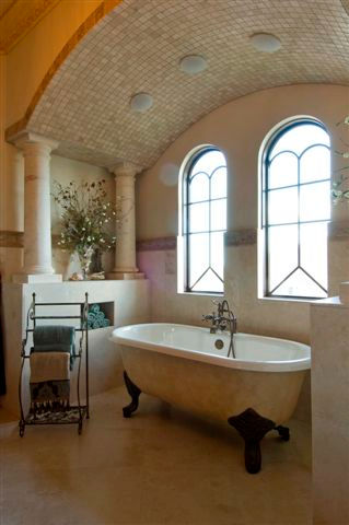 luxurious custom master bath clawfoot tu