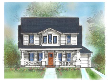 Craftsman Home, Fern Creek Ave. Orlando Historic District design by John Henry Architect