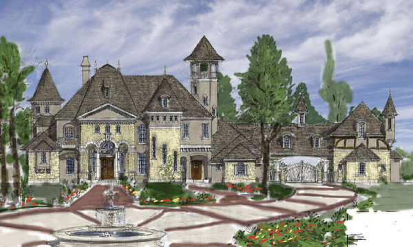 French Country Manor Design 8 12000 Squa