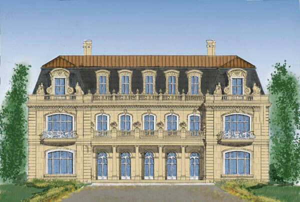 French Renaissance luxury house Chateau