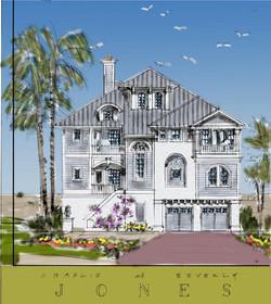 Gulf coast traditional beach house