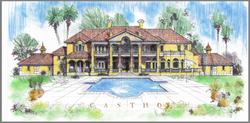 Italian Villa Lakefront design plan