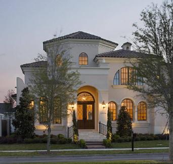 Florida Mediterranean revival home plan.