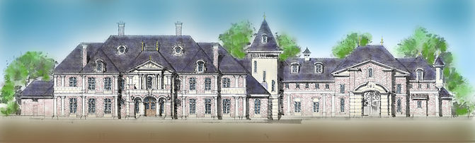 French Brick Chateau Castle luxury home
