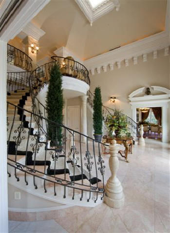 Double Staircase foyer classical interio