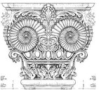 Beautiful column capital custom design.J