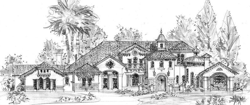 Amazing beautiful Florida style Mediterranean luxury home plan by John Henry Architect.jpg