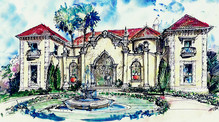 Palm_Beach_style courtyard house plan.jp