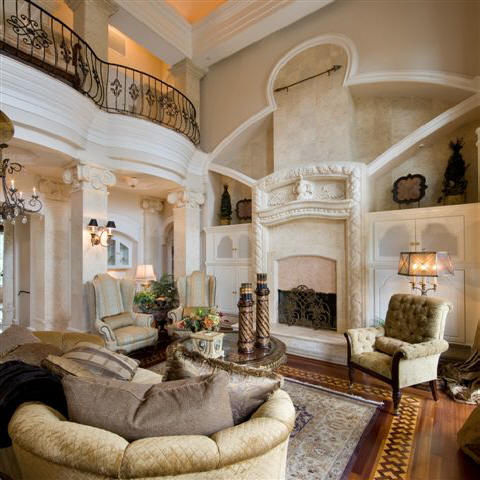 Classical double story Living Room inter