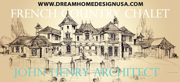 French Country Castle style home plan Ar
