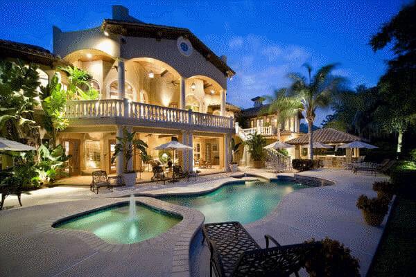 Mediterranean Florida Style luxury home