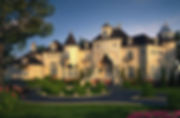 French Castle style home Chateau plan bl