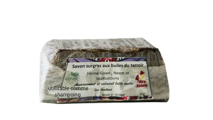 Savon du Terroir: Henné, Gowé, Huile de Neem et Touloucouna
