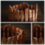 Бадейка деревянная для фотосесии новорожденных