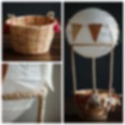 Воздушный шар для фотосесии новорожденных