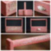 Ящик розовый для фотосъёмки новоржденного