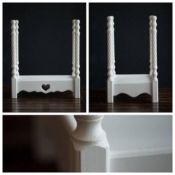 Кроватка белая для фотосессии новорожденных на выезде