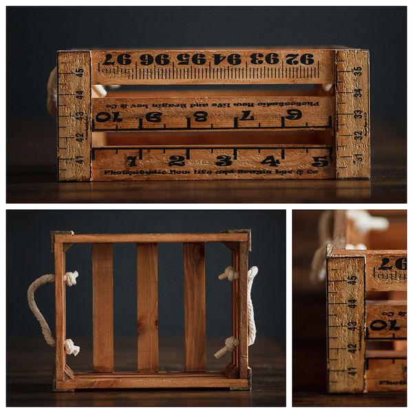 Ящик деревянный для фотосъёмки новорожденных