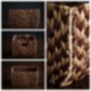 Корзина-коробка плетёная для фотосъёмки новорожденных