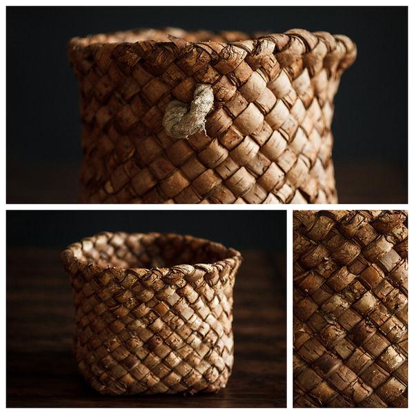 Корзинка плетёная из бересты для фотосессии ньюборн