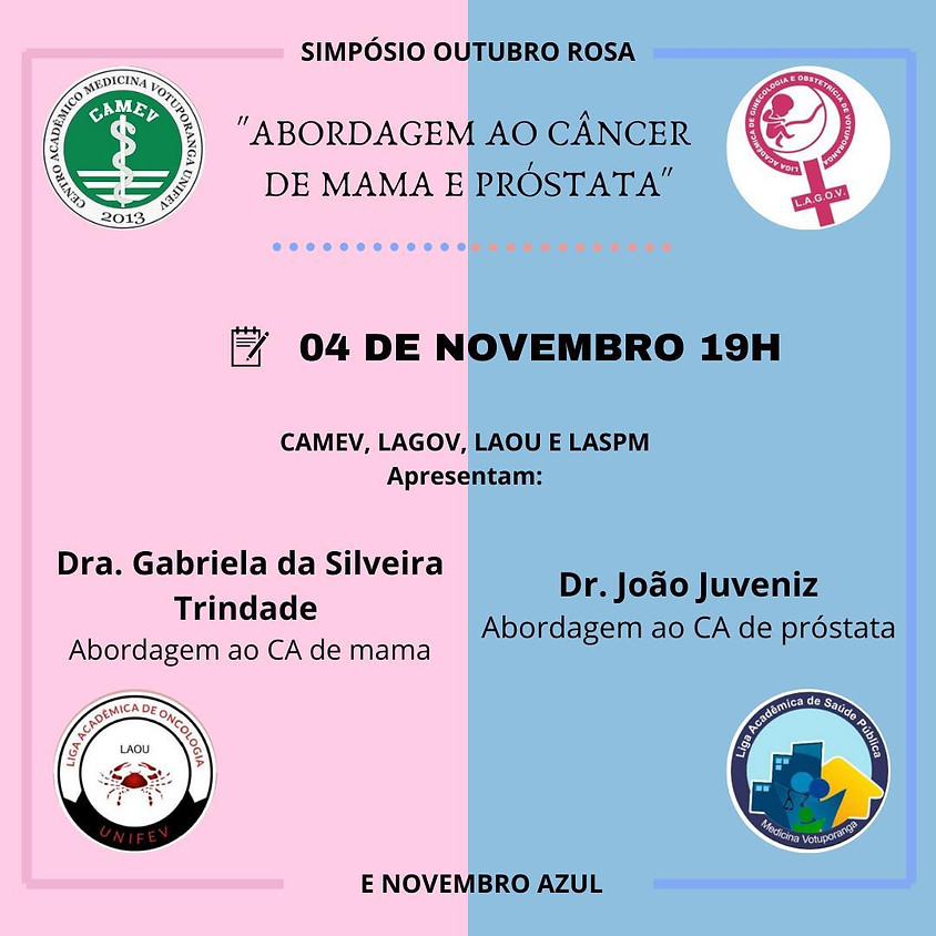 Simpósio Outubro Rosa e Novembro Azul: abordagem dos cânceres de mama e próstata