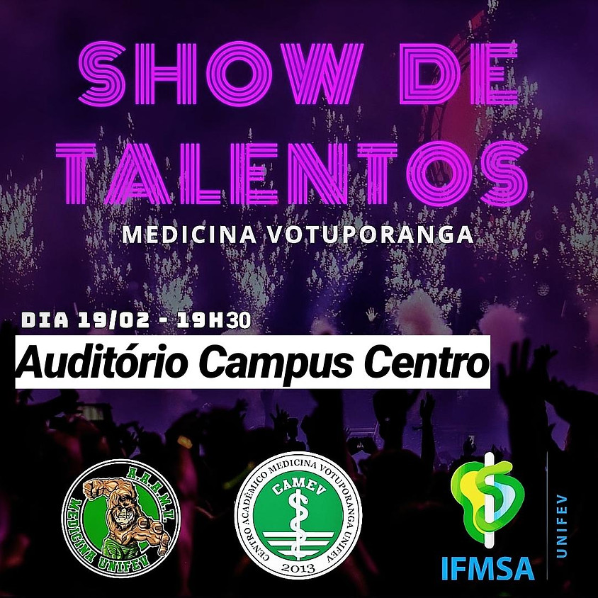 """Show de Talentos - """"Inscrições Público"""""""