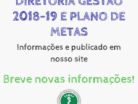 Nova diretoria da gestão 2018-19 do CAMEV