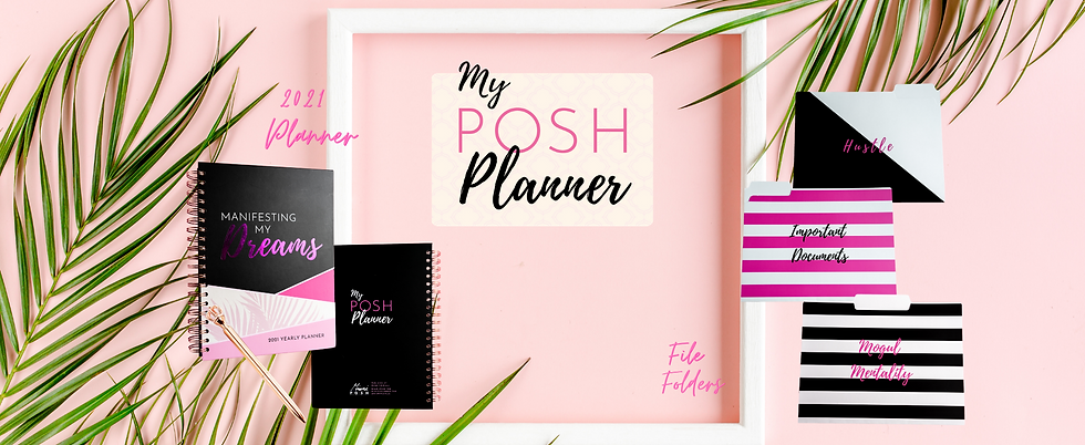 My Posh Planner Coming Soon -stripe back